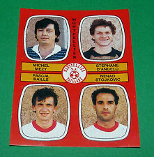 N°435 MEZY D'ANGELO BAILLS MONTPELLIER PAILLADE D2 PANINI FOOTBALL 87 1986-1987