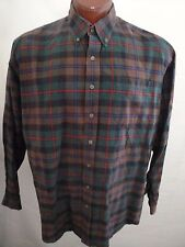 Cinch Men's Bright Plaid Green Red Brown Blue Checkered Pattern Size Size XL
