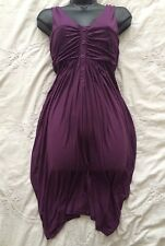 """TED BAKER Lovely Purple Tulip Dress Jersey Fabric Size  """"3"""" or 12 UK"""