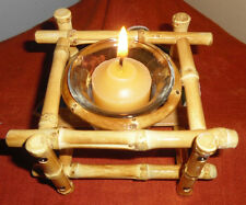 Real Bamboo Candle Holder Votive-Unique Eco-Friendly Gift Idea!