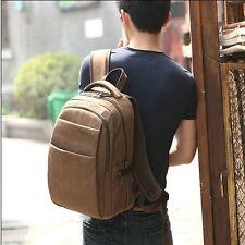 Men's Canvas Shoulder Bag Laptop Backpack Rucksack Bookbag Travel Hiking Handbag