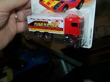 2006 Hot Wheels-HiWay Hauler -Red Lines-Flying Customs-Red Cab Semi Truck
