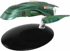 #77 Star Trek Romulan Shuttle Die Cast Metal Ship-UK/Eaglemoss w Mag- FREE S&H
