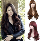 Women Girl Fashion Long Wavy Curly Hair Cosplay Costume Party Full Wigs BE