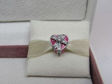 New w/Box Pandora Gift of Love w/ Enamel & CZ's Charm #792047CZ Love Valentine
