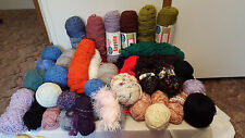 Knit Crochet Yarns 62 Whole & Partial Skeins Sayelle Caron Colors How To Book