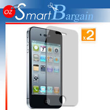 2 x ANTI GLARE MATTE SCREEN GUARD PROTECTOR iPhone 4G