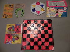 VINTAGE HEXAGONAL CHECKERS GAME, REG CHECKERS GAME & HORSESHOE GAME