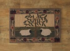 Willow and Sheep Hand-Hooked Rug by Park Designs