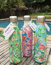 3 Lilly Pulitzer + Starbucks S'well Water Bottle 17oz Limited Edition Swell Rare