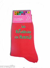 Red Christmas Socks 1st Christmas as Mummy in Green Ladies Gift for New Mother