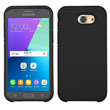 NEW FOR SAMSUNG J327 J327P Galaxy J3 Emerge (2017) BLACK COVER CASE + CLIP STAND