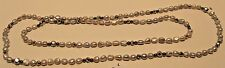 Necklace Genuine Gray Fresh Water Pearl Bead Silver Very Long Strand NWT L334