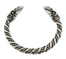 Handmade Viking Odin's Raven Head Pewter Bracelet