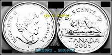 CANADA 2005 CANADIAN NICKEL P-SERIE QUEEN RARE SHOT SEALED 5 CENT COIN UNC