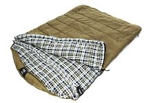 GRIZZLY Comfortable 2-Person 0 Degree RIPSTOP SLEEPING BAG by BLACK PINE SPORTS