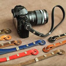 "The 1901 ""Caradog"" Leather Camera Wrist Strap - Moroccan Olive"