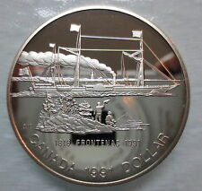 1991 CANADA PROOF FRONTENAC SILVER DOLLAR COIN