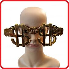FUNNY GIANT JUMBO LARGE $ DOLLAR PESO MONEY SIGNS GLASSES / SUNGLASSES-COSTUME