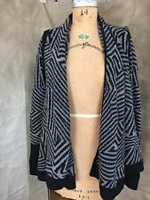Armani Exchange MOD Wrap Open Belted CARDIGAN SWEATER S Cotton Wool