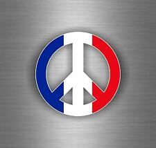 Sticker car moto tuning peace and love france french flag paris