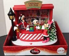 "DISNEY MICKEY MOUSE ANIMATED ""Christmas GIFT SHOP"" LIGHT UP MINNIE GOOFY MUSICAL"
