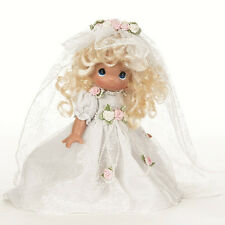 "Precious Moments Wedding Bells Bride 1st communion 9"" Vinyl Doll By Linda Rick"