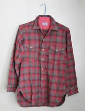 Vtg 80s Pendleton Wool Flannel Shirt Men S punk GRUNGE lumberjack red Gray