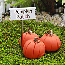 Pumpkin Patch Sign ~ Autumn Pumpkins ~ Fairy Garden Miniature ~ Handmade
