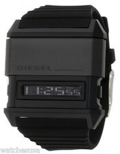 Diesel Mens Domination Black Dial Black Silicone Strap Digital Watch DZ7200