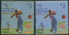 Nepal  ICC World Cup Of Cricket 2 Stamps Of Different Colour ERROR Variety