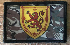 Scotland Rampant Lion Shield Morale Patch Tactical Military Hook Badge Army Flag