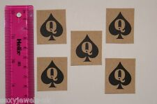 Mini Queen Of Spades QOS Temporary Tattoo Fetish BBC Hotwife FREE P&P- Pack of 5