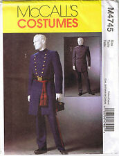 Mens Civil War Military Soldier Uniform Coat Pants Sewing Pattern XL XXL XXXL