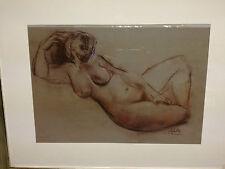 Luciano Sopelsa NUDO quadro pastello 70 x 60 cm cornice pittore veneziano