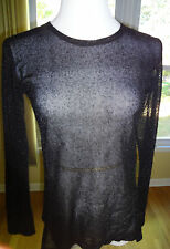 Anny & Adi Jacobson 100% with Love Women Black Sparkle Top in sz L