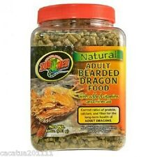 ZOO MED NATURAL ADULT BEARDED DRAGON FOOD - NOW BACK IN STOCK - 283g