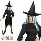 HALLOWEEN ADULT BLACK SPOOKY WITCH - 8-18 - womens ladies fancy dress costume