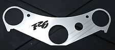 YAMAHA R6 (NOT USD) MIRROR POLISHED STAINLESS STEEL TOP YOKE COVER WITH R6 LOGO