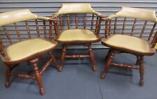 GRAND LEDGE CHAIR COMPANY CAPTAIN CHAIRS (3) RARE VINTAGE ITEM SWIVEL TYPE NICE
