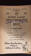 Jordan Christopher Sleuth Autographed Signed Music Box Theatre Playbill 165U
