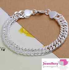 925 Sterling Silver Mens Chunky Chain Bracelet Bangle Gift Jewellery Valentine