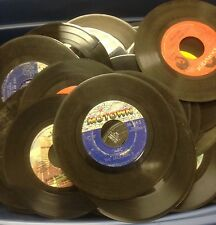 Lot of 50 45 rpm Vinyl Records for Crafts and Decoration 7""