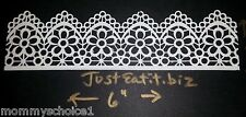 Beautiful 10 Pack Premade Edible Lace Ribbon Panels Wedding Cakes US SELLER