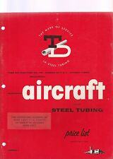 TD SEAMLESS AIRCRAFT ALLOY STEEL TUBING PRICE LIST MARCH 1959 EDITION