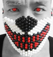 Kandi Gear - Wolf Kandi Mask, costume mask, halloween, rave mask, beaded jewelry