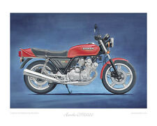 Motorcycle Limited Edition Print - Honda CBX1000Z red
