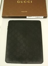New Authentic GUCCI GG Monogram iPad Case cover Black Rubber for iPad 1-4th gen