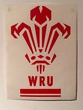 WALES RUGBY WRU VINYL 17CM X 27CM  HOUSE CAR STICKER WELSH RUGBY TEAM CARDIFF