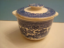 Blue Willow Sugar Bowl, with lid and tab style handles